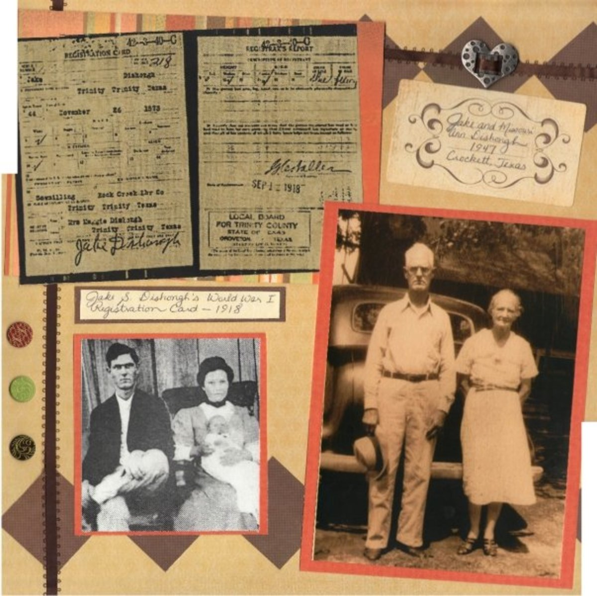 Embellishments were added to fill space, but also to pull your eye to other pieces on the page. Scrapbooks tell a story, and you want your reader to pick up as many details as possible.