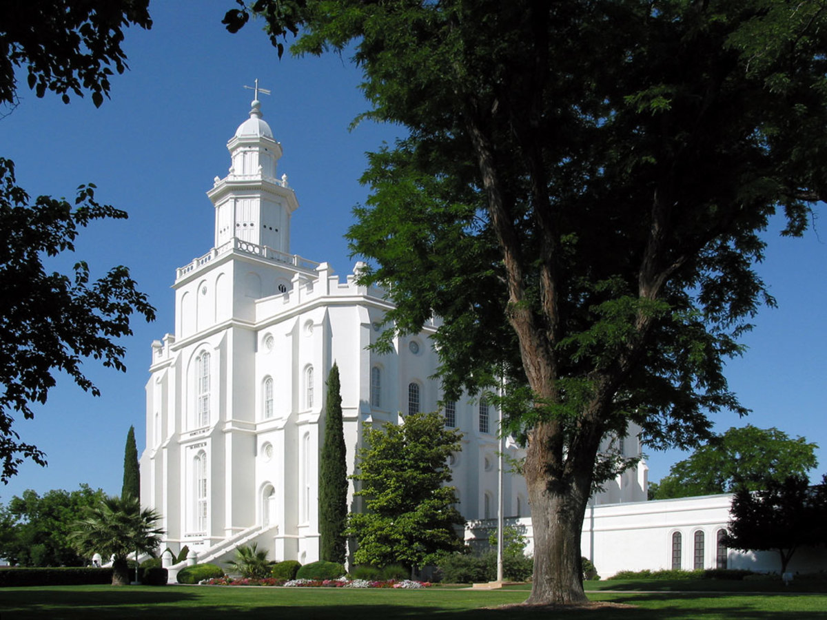 Like a beacon of light, the St. George Mormon Temple is surrounded by the the city known as Utah's Dixie.