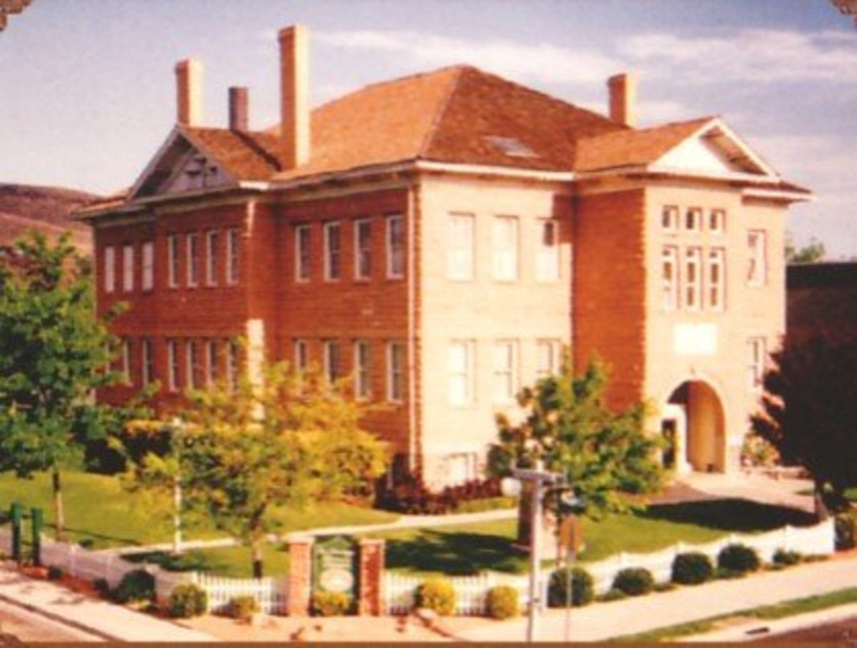 The St. George Stake Academy, which officially began in 1888, moved to this building in 1911.