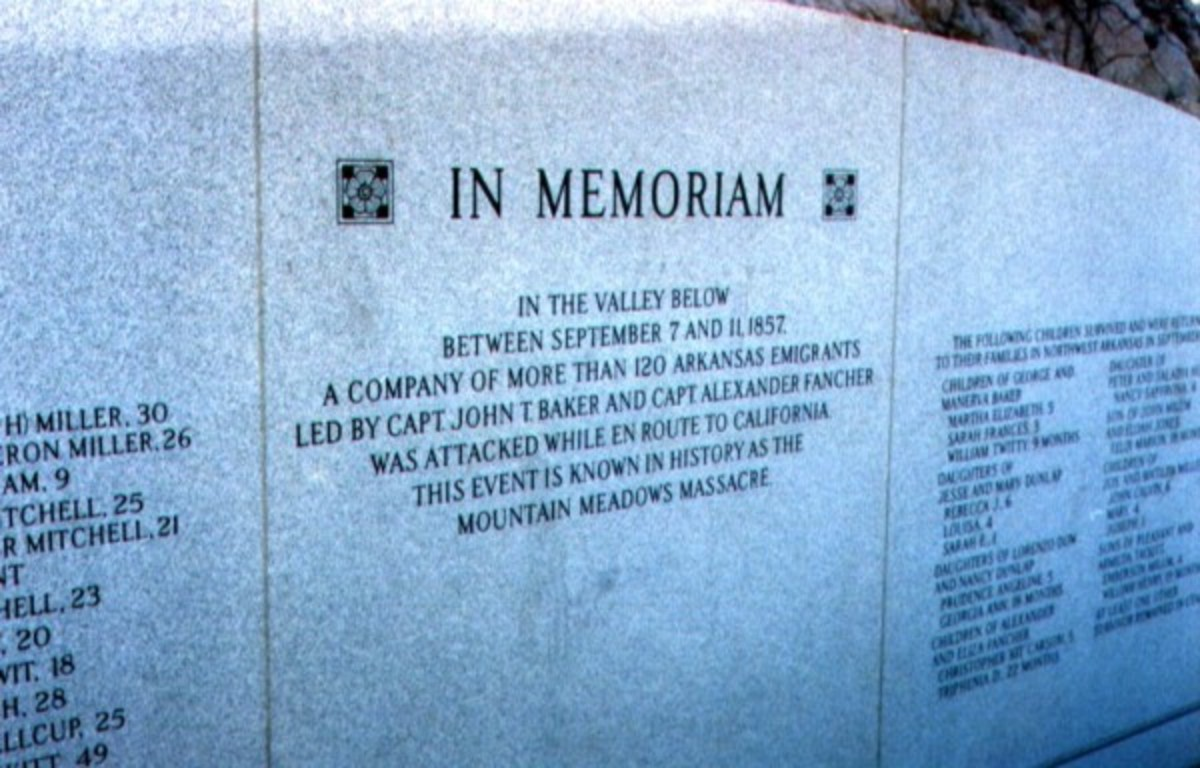 This sacred monument lists the names of all the victims of the Mountain Meadows Massacre.