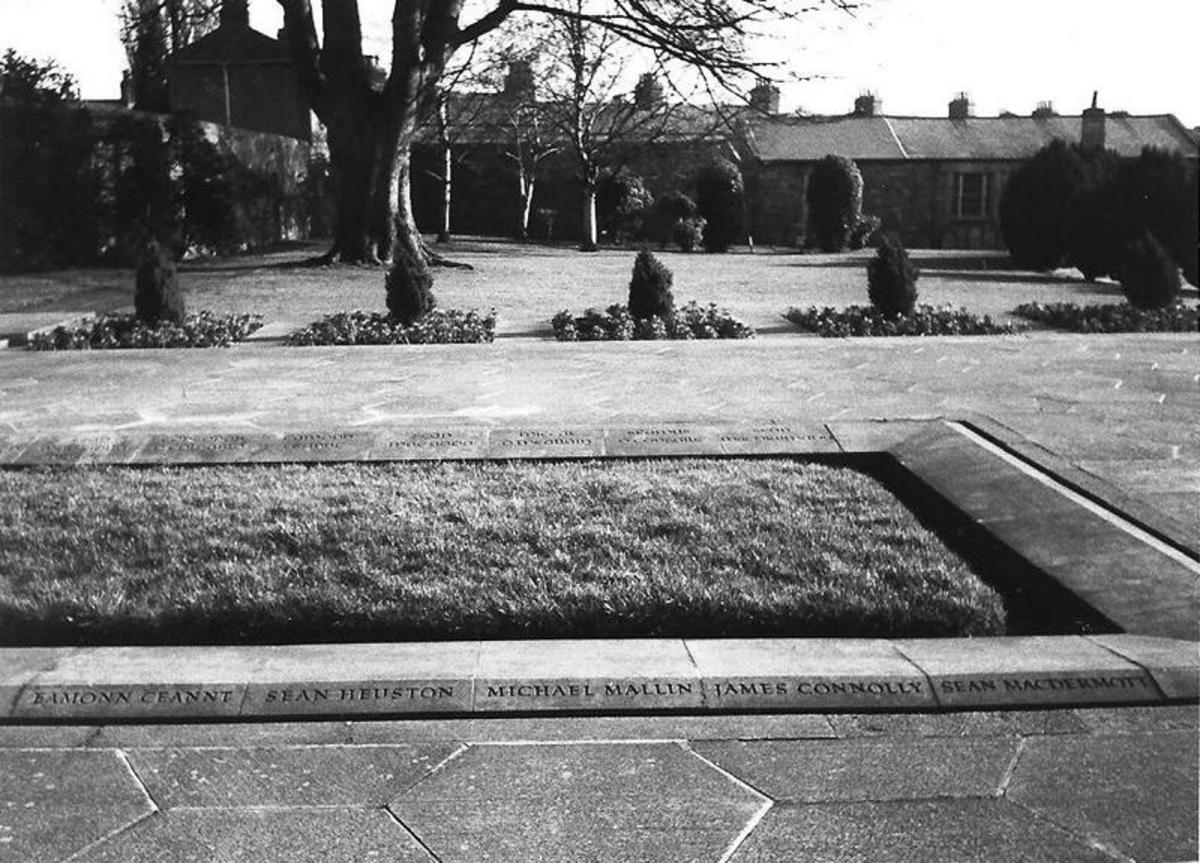 All 14 men buried here have their names ingraved in English and Irish at Arbour Hill