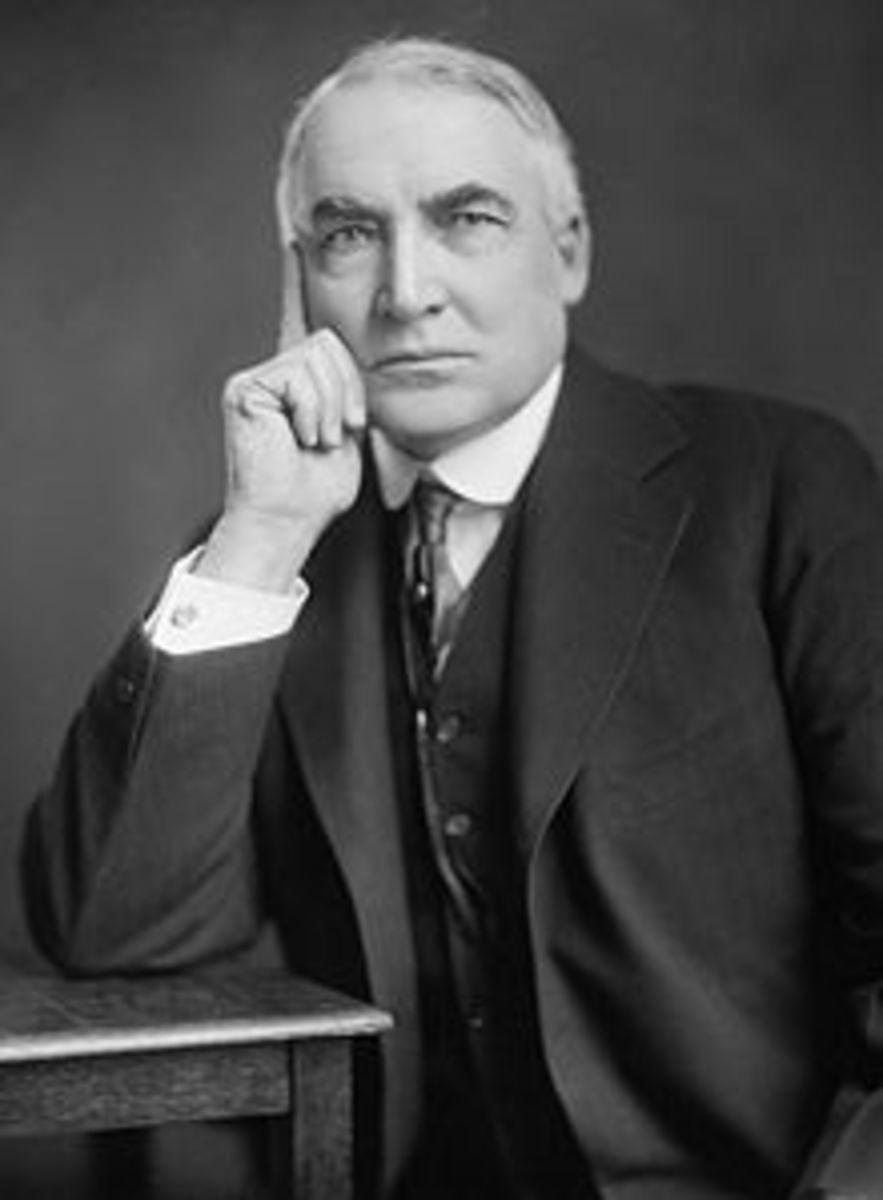 POTUS #29 PRESIDENT WARREN G. HARDING March 4, 1921 – August 2, 1923
