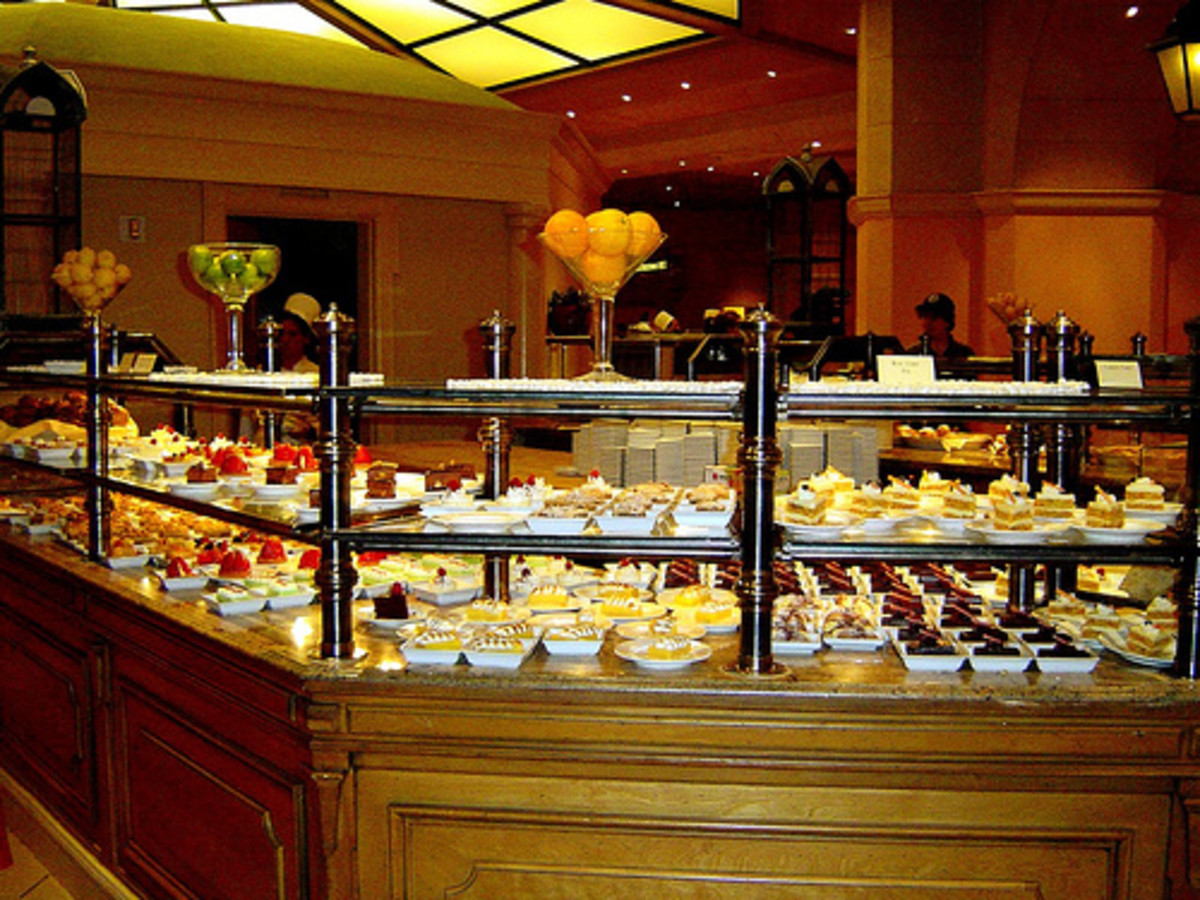 Dessert aisle at the Buffet