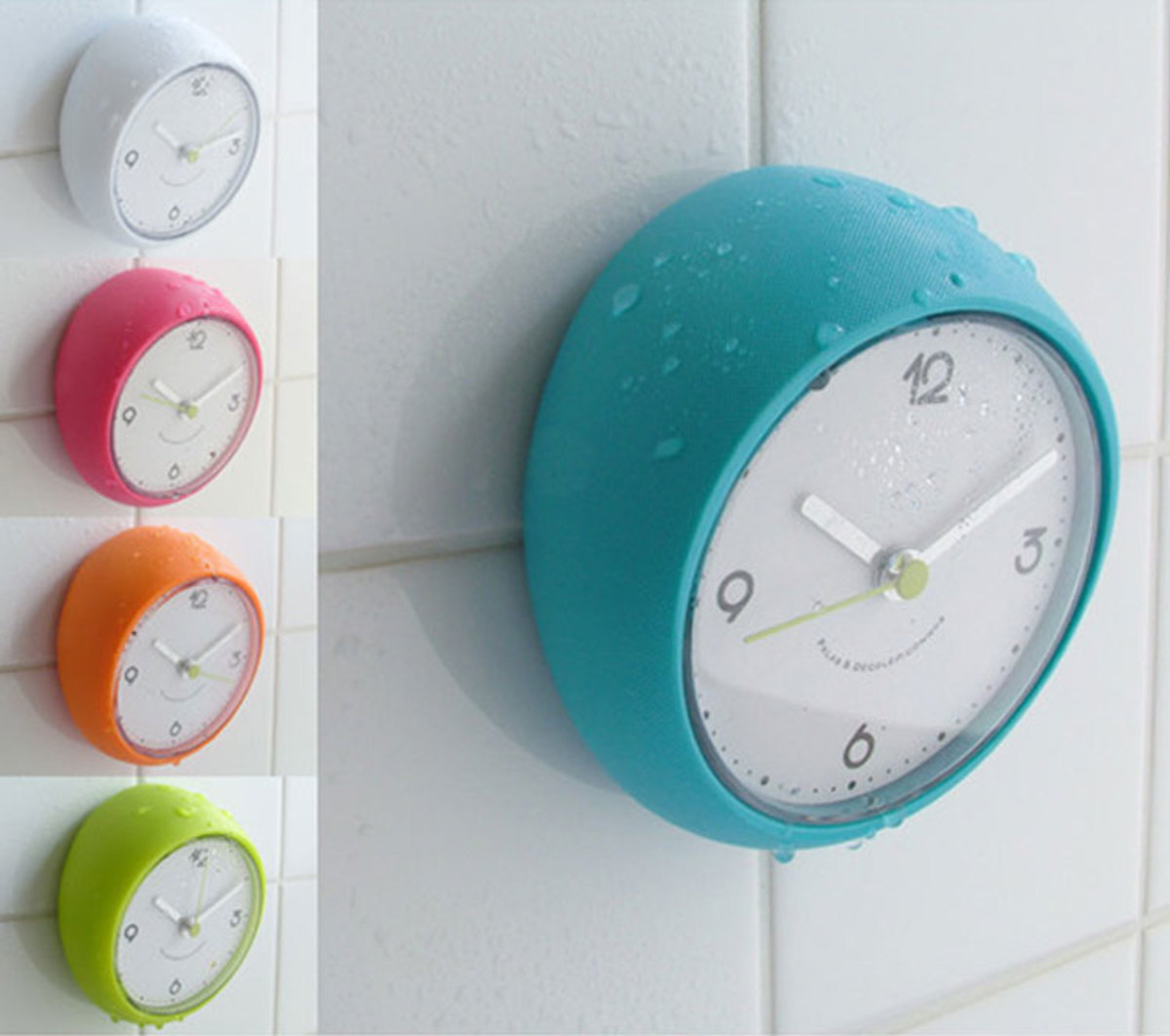 Get a bathroom clock and limit your time spent there for Bathroom clock ideas