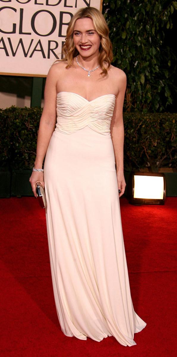 Kate Winslet on the golden Globe Award