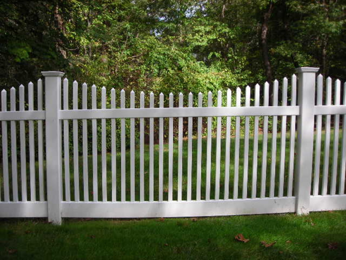 White Picket Fence with Scalloped Design