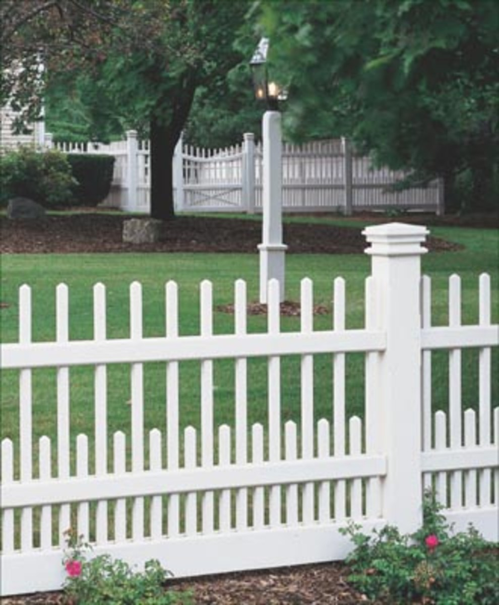 Westchester Fence from walpolewoodworkers.com White Picket Fence with Scalloped Design