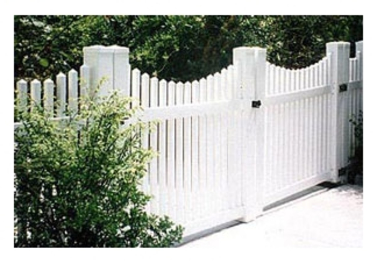 fencesupplysource.com double gate with white picket fence