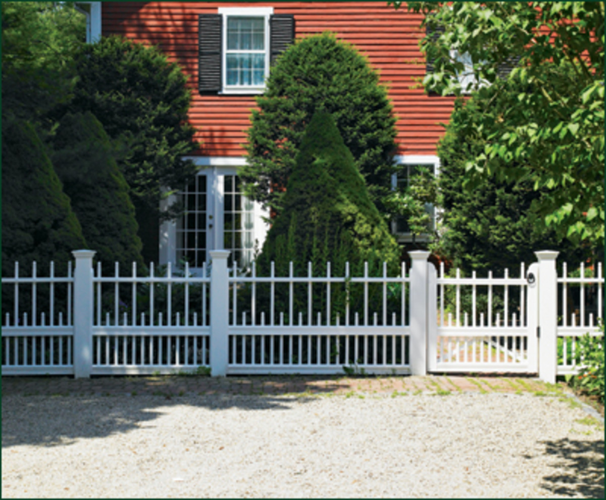 Cambridge Freeport Fence from  walpolewoodworkers.com White Picket Fence