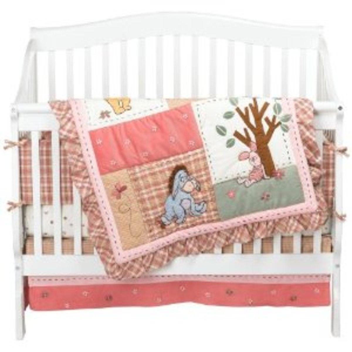 Disney Crib Bedding Set, Create A Disney Theme Baby Boy or Girl Nursery, Mickey Mouse and More
