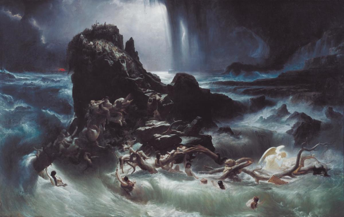 The Deluge (1840) by Francis Danby, in the Tate Gallery.