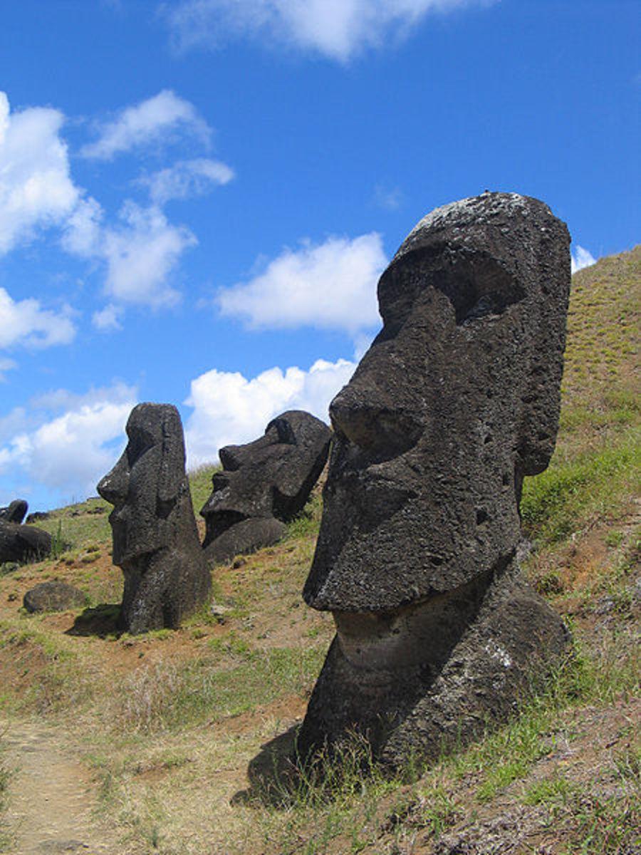 Moai at Rano Raraku, Easter Island