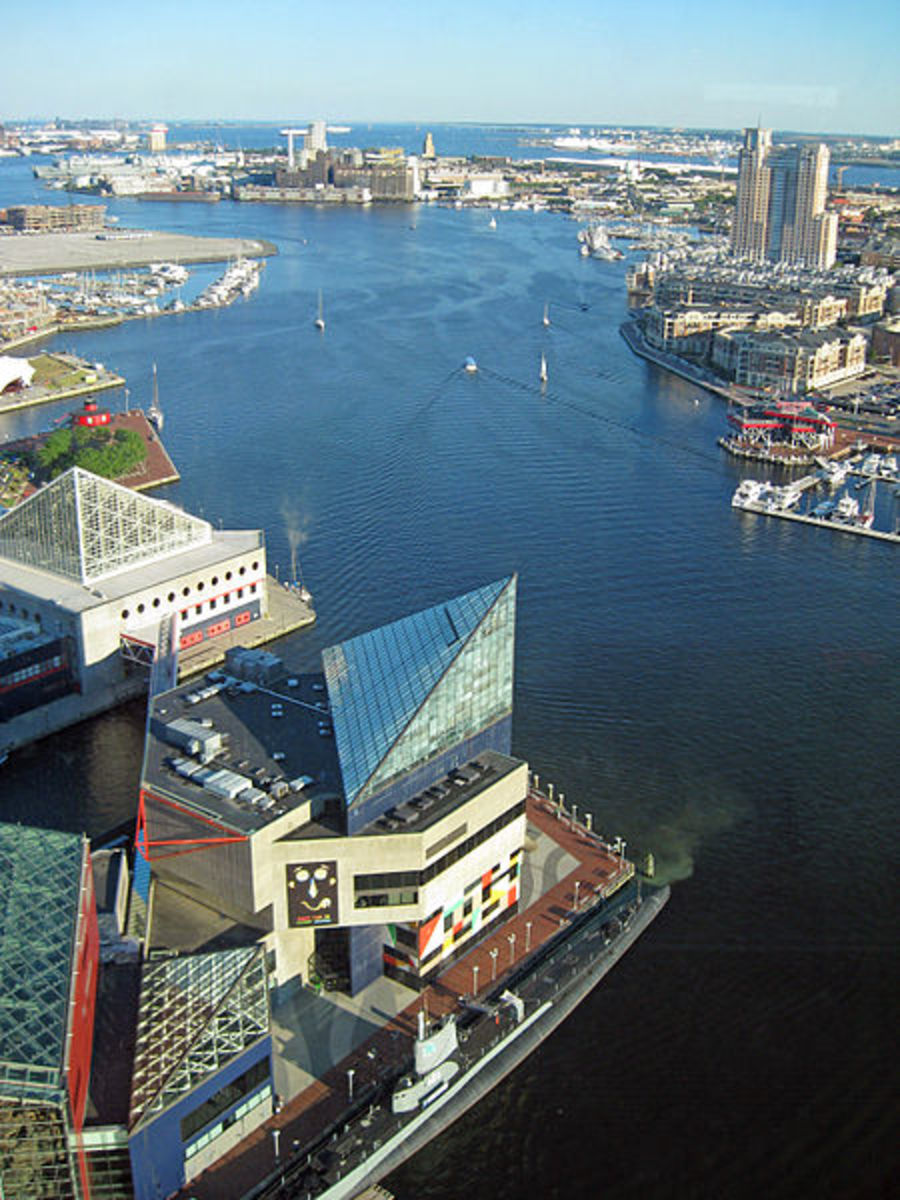 View in the Inner Harbor, Baltimore
