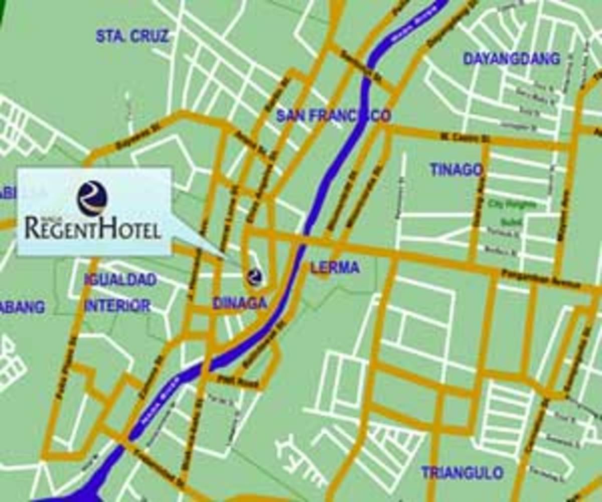 Naga Regent Hotel map (http://www.asiatravel.com/)