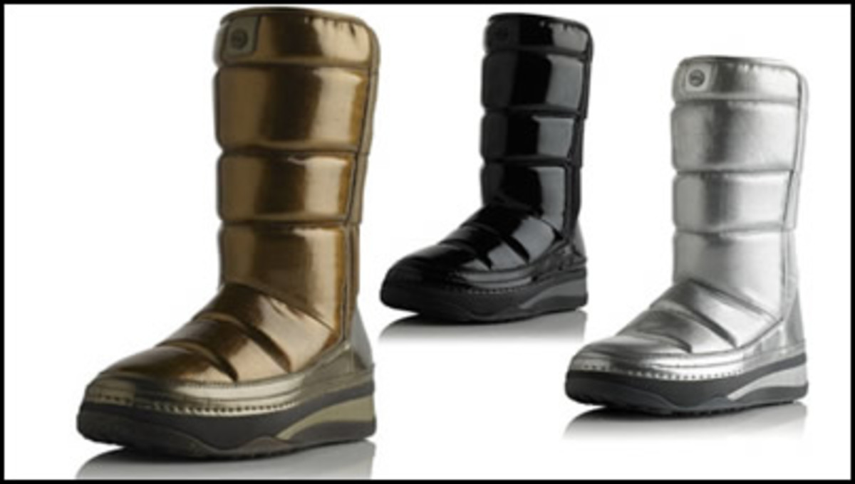 Bronze, Silver and Black patent finish FitFlop Snugger Boots