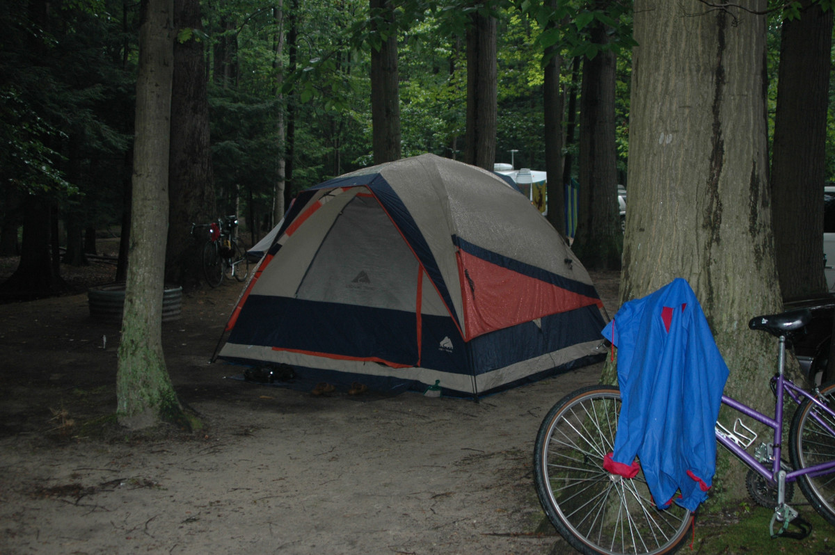 Camping is popular on the island.