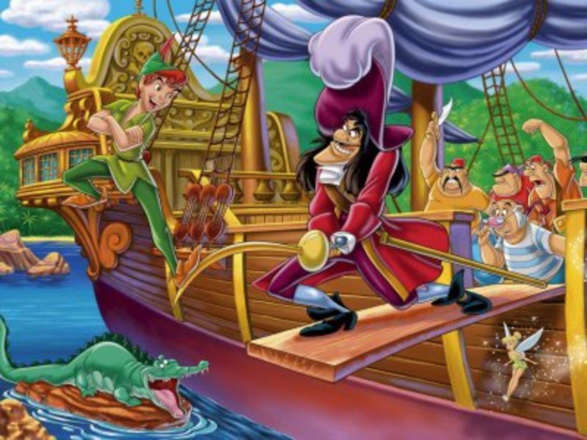 Peter Pan and Captain Hook. (google images. com)