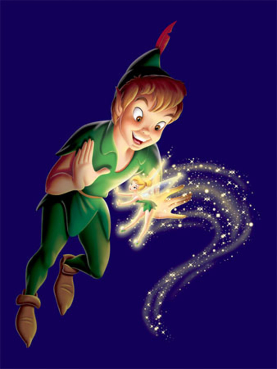 Peter Pan and Tinker Bell.