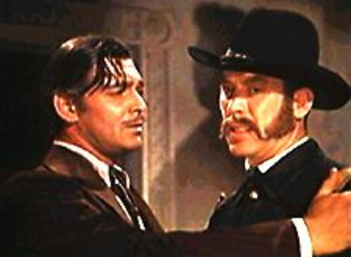 With Clark Gable in 'Gone With The Wind'
