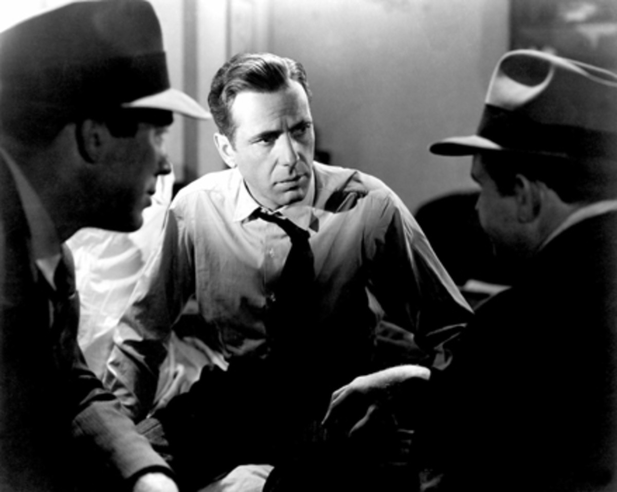 Bond on the left, with Bogart, in 'the Maltese Falcon'.