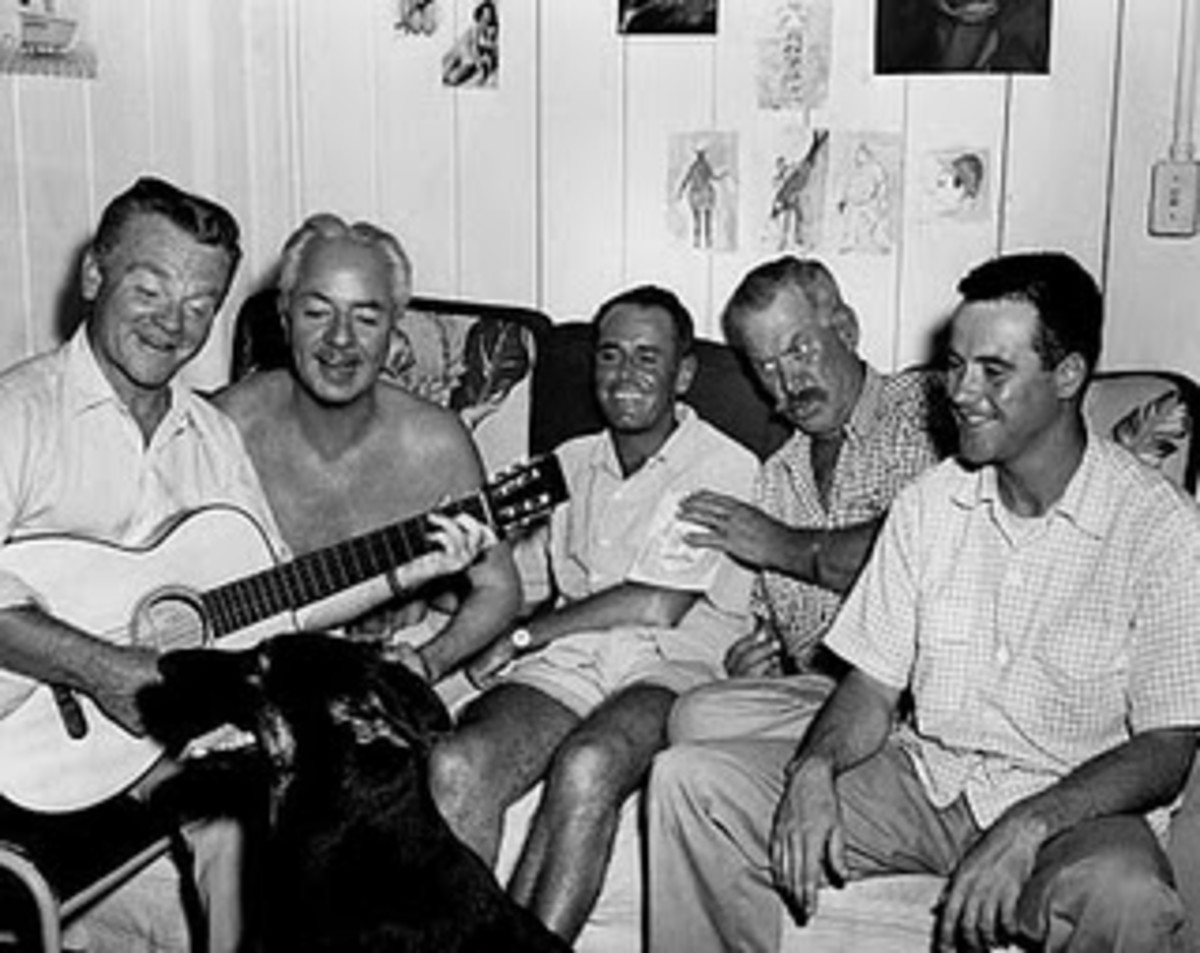 Exalted company. From the left, James Cagney, William Powell, Henry Fonda, Ward Bond, Jack Lemmon