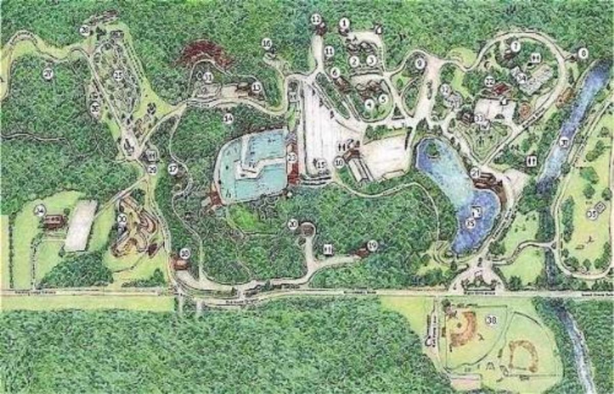 Overhead View of Burdette Park from vanderburghgov.org