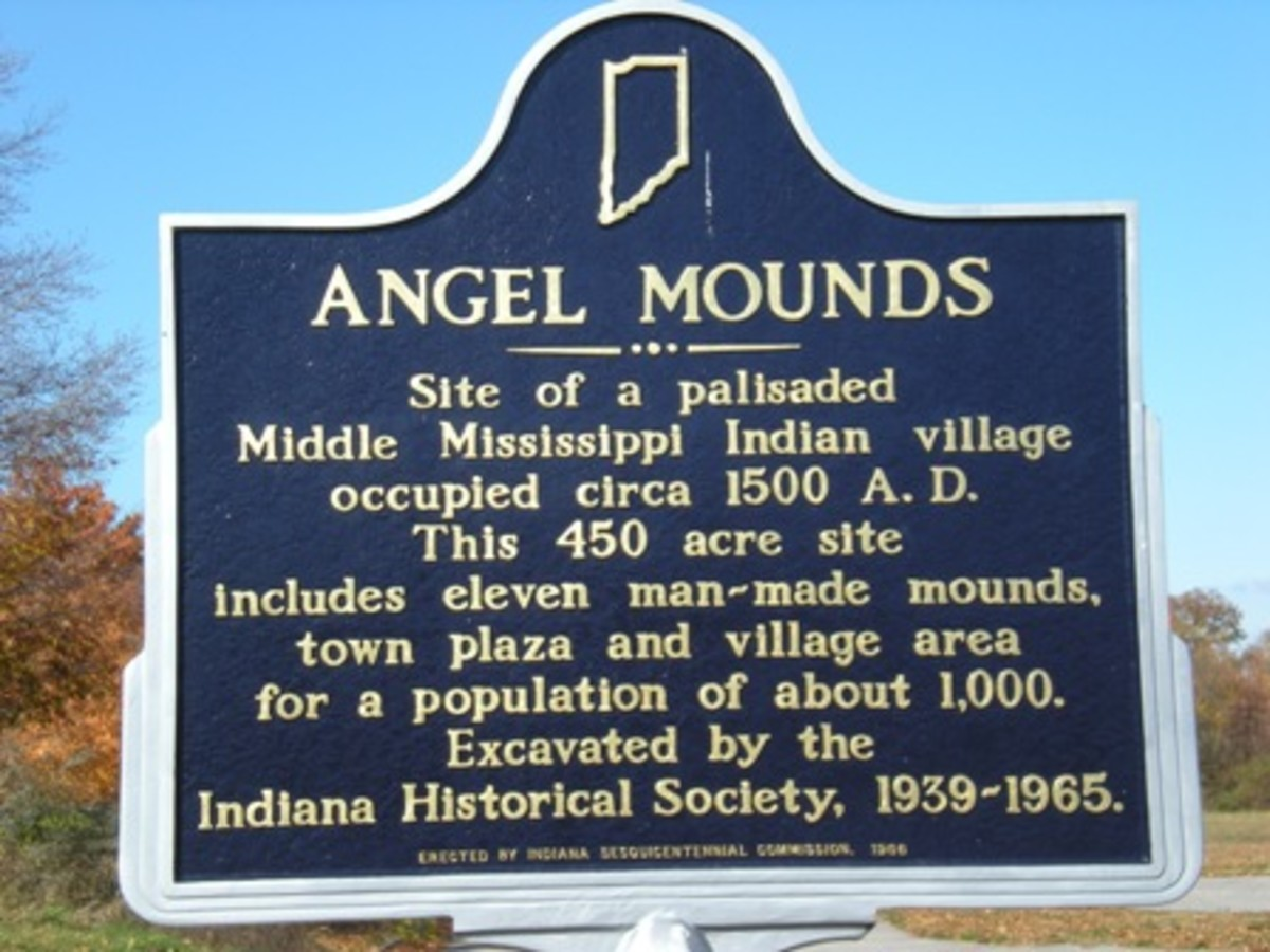 Angel Mounds Historical Marker from angelmounds.org