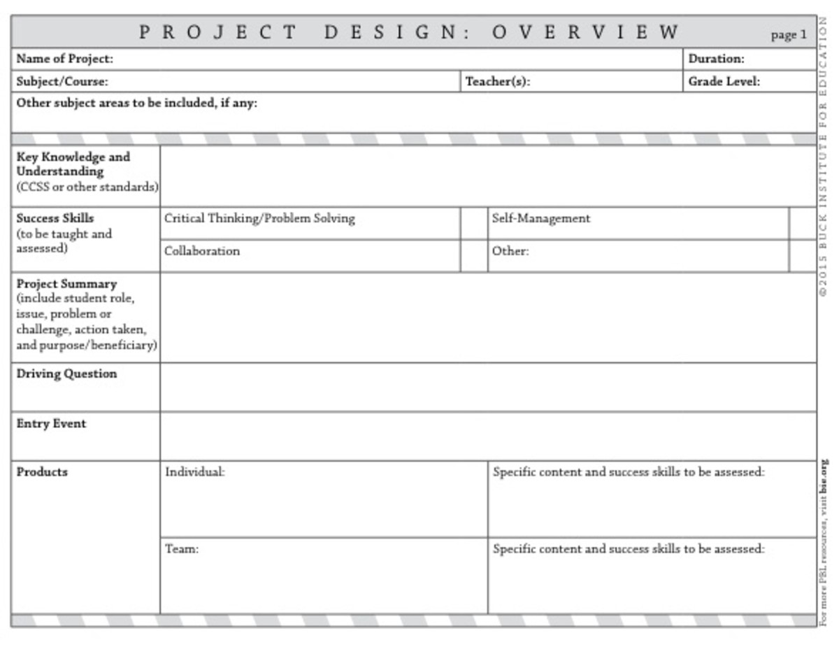 BIE PBL Project Design Template