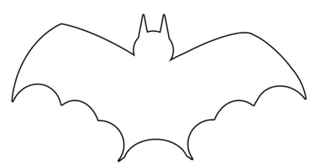 Vampire bat stencil to color, cut, and paste.