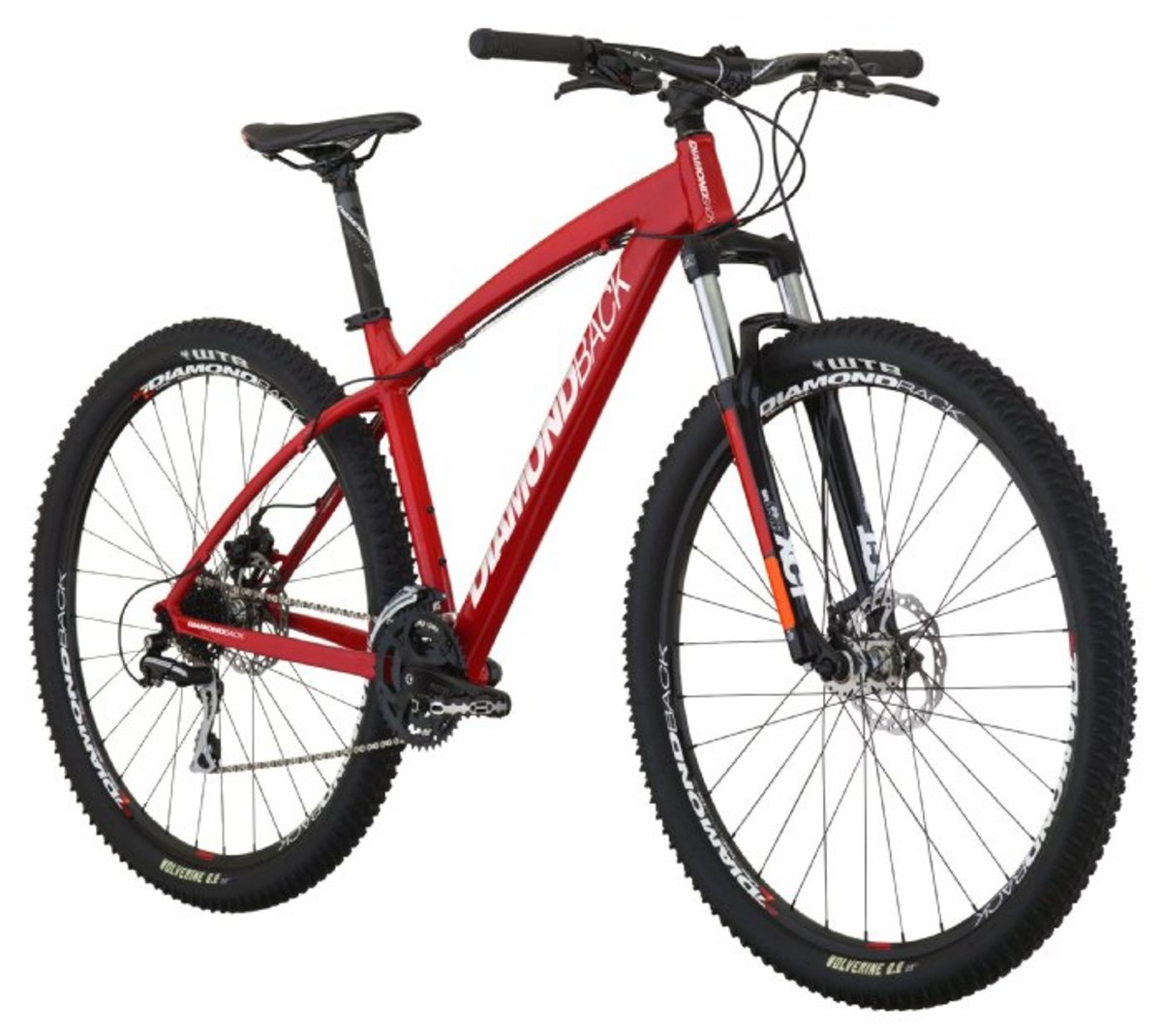 Diamondback Bicycles 2014 Overdrive Sport mountain bike with 29-inch wheels.