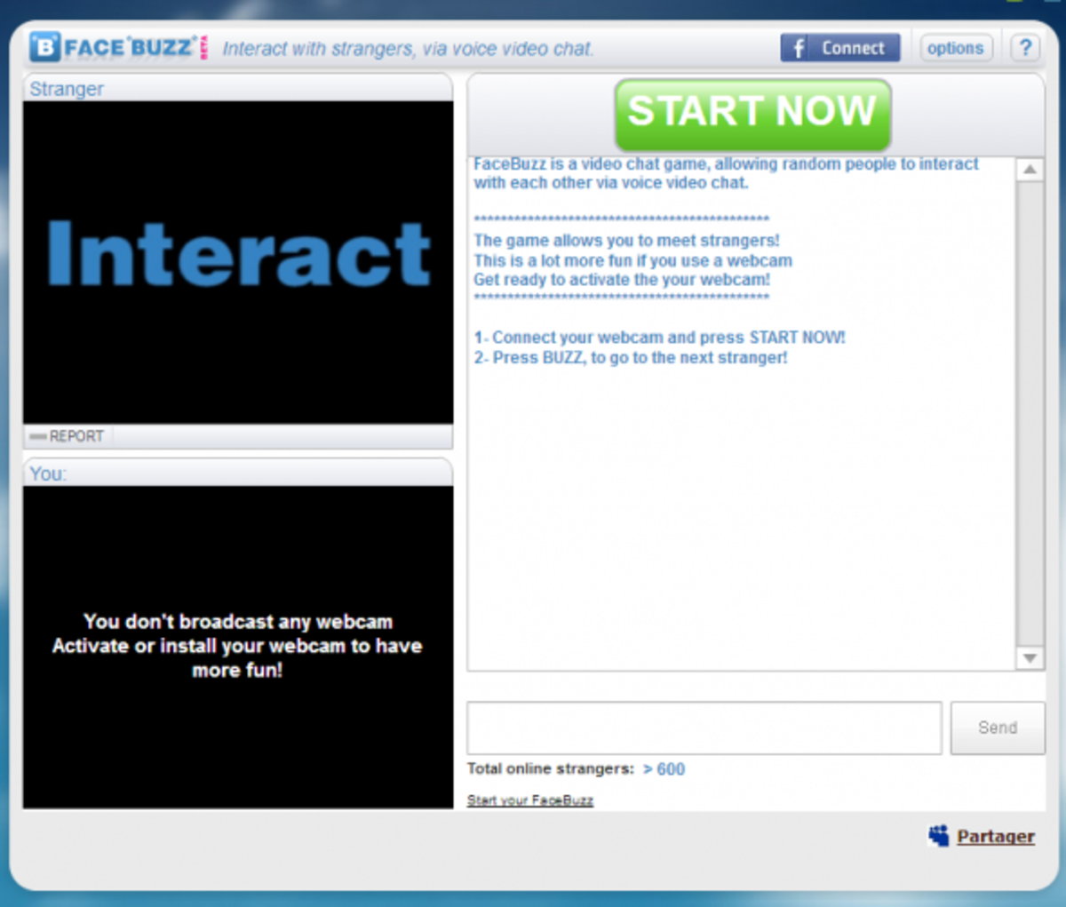 chatroulette style website