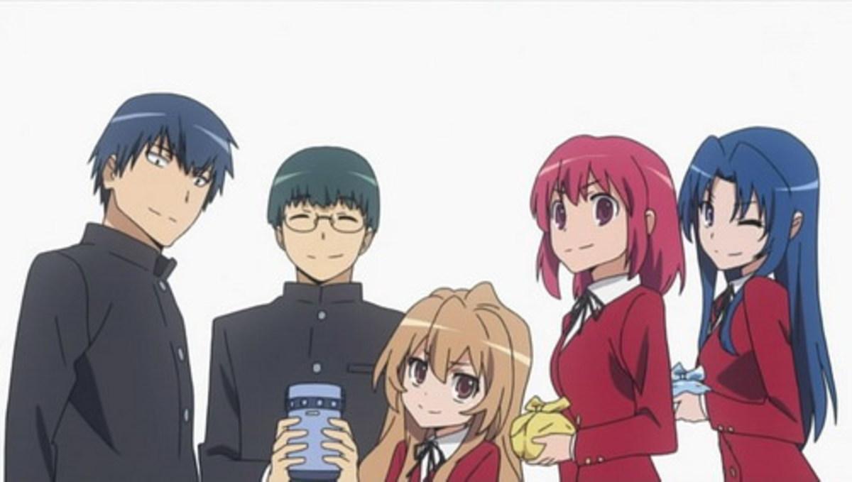 The main characters of Toradora!