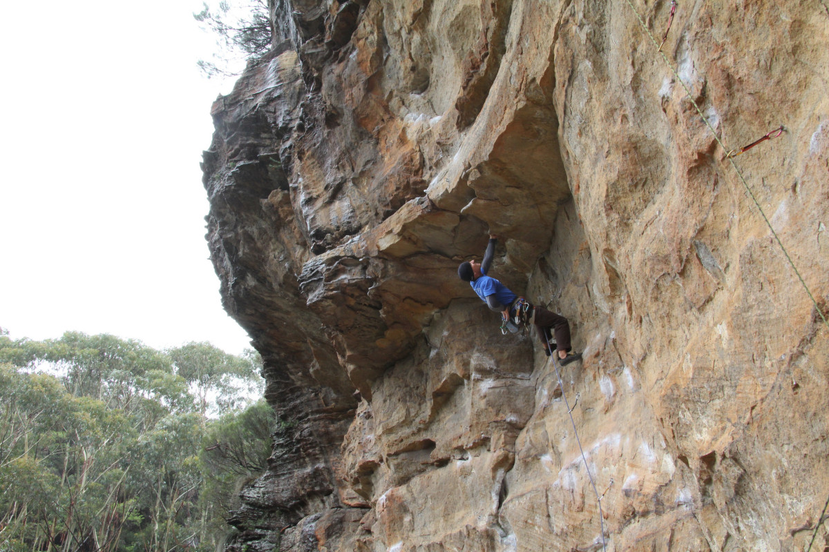 Rock climbing in the Blue mountains.