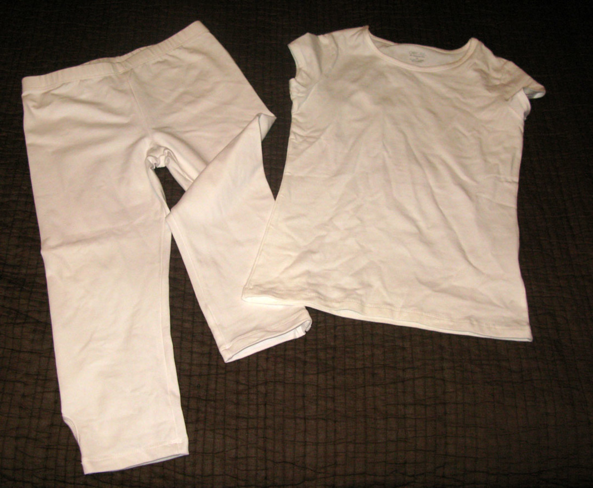 White shirt, white pants: That's the base of your costume. If the weather is still cool, make it sweats.