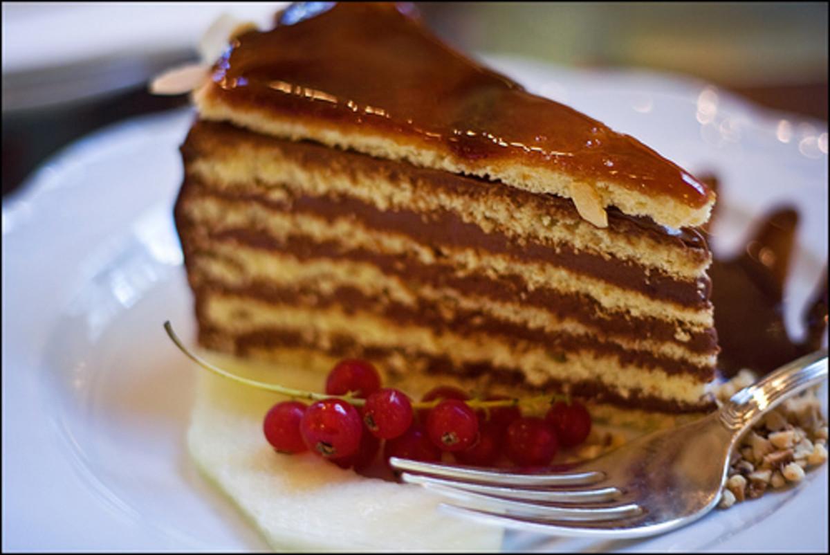 Hungarian Cuisine: Dobosh Torte Cake