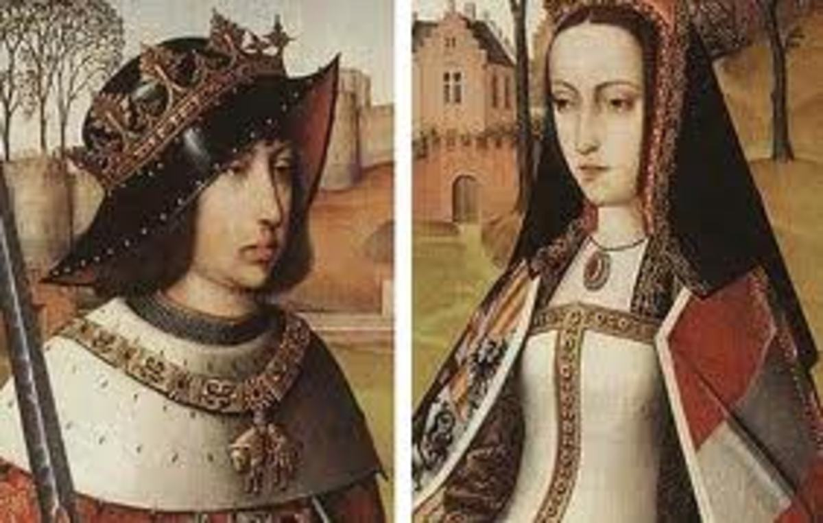The tragic queen Joanna of Castile and her husband Philip the Handsome.