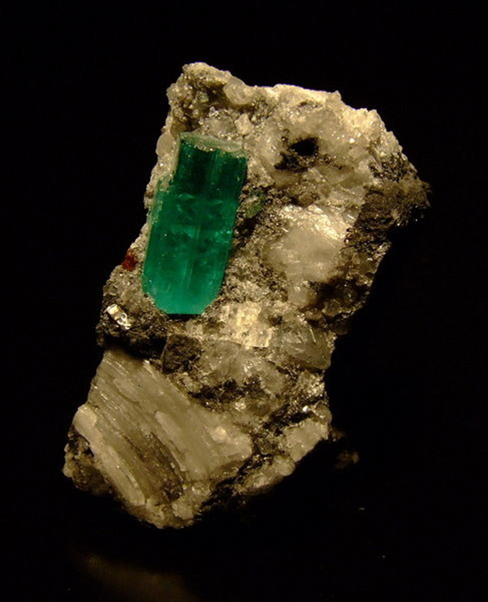 An emerald crystal from Colombia