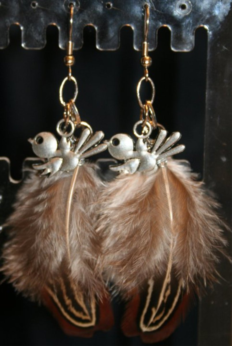 Ideas to Make Your Own Feather Earrings