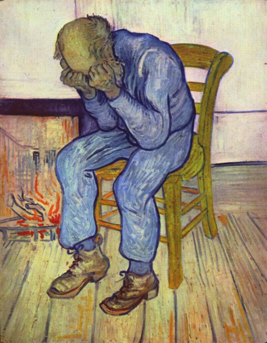 """At Eternity's Gate"" by van Gogh, 1890."
