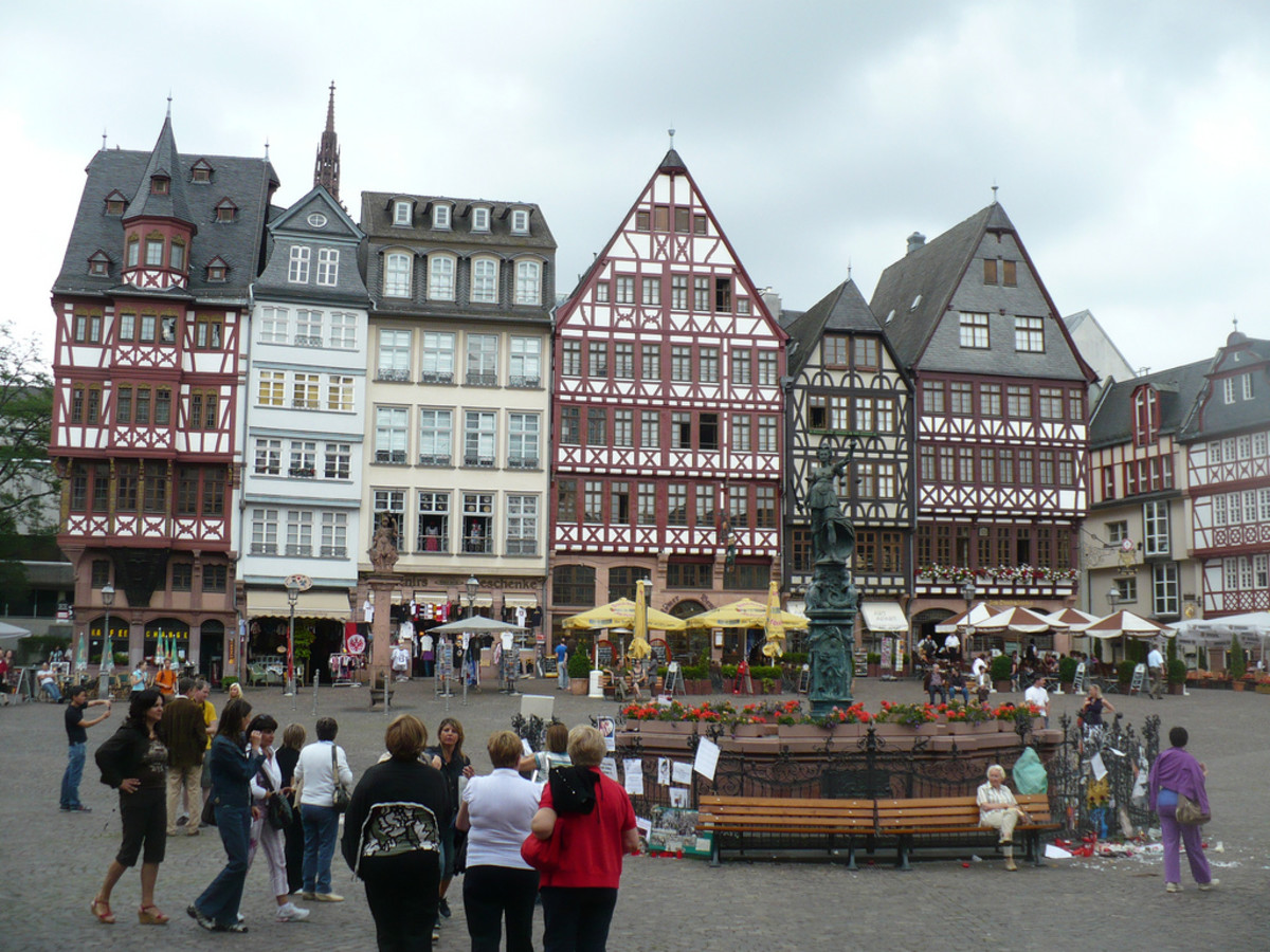 The traditional style of the Romerberg