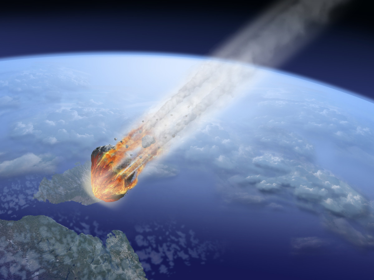 Meteors are a daily occurrence; warning shots?