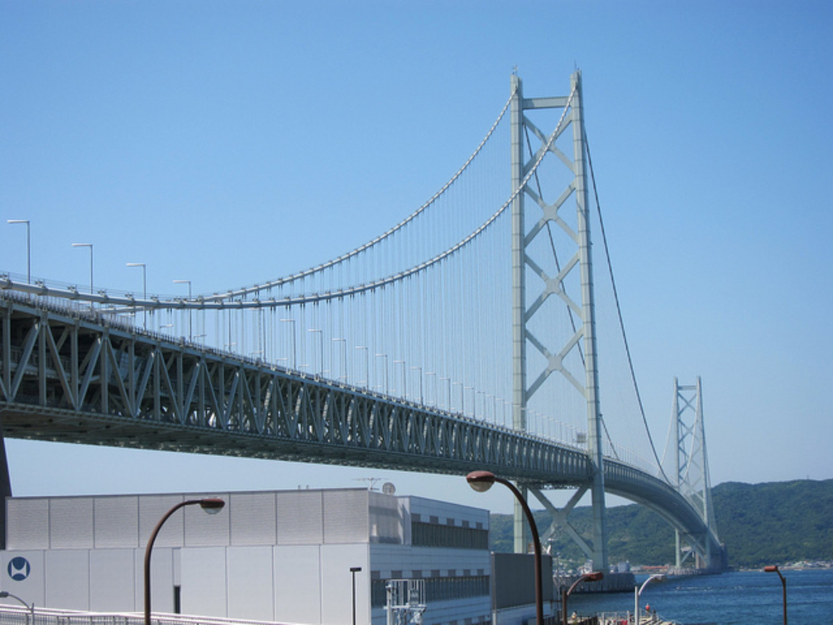 The Akashi-Kaikyo Bridge, Japan