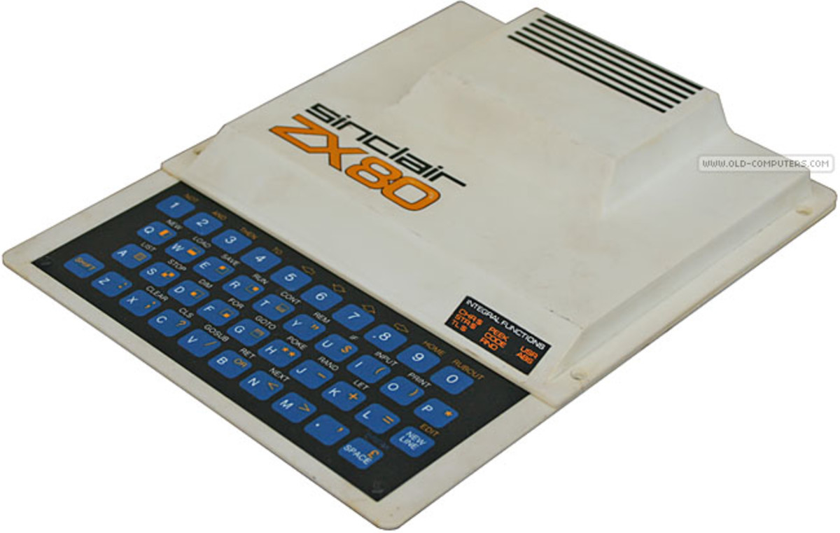 The Sinclair ZX80 In all it's retro glory...