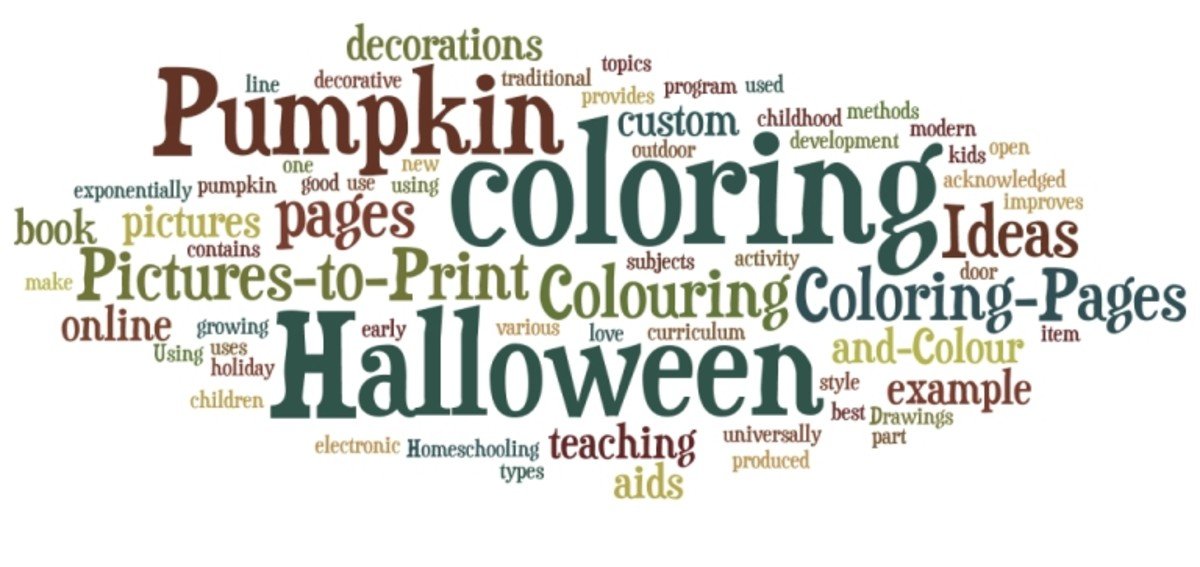 Halloween Pumpkin Ideas Coloring Pages Word Cloud