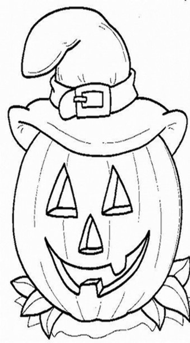 Halloween Pumpkins Ideas for Decoration - Childhood Education Online - Pumpkin Hat Coloring Pictures to Print-and-Colour