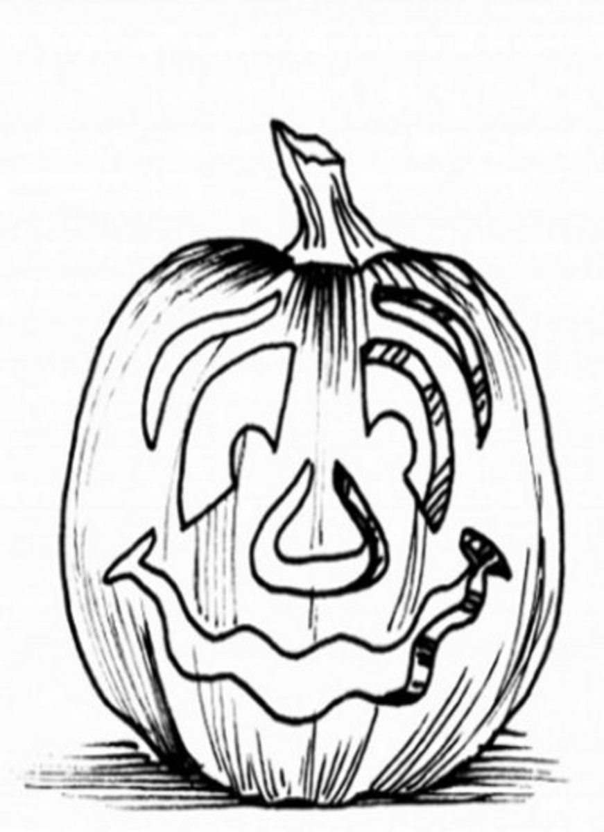 Halloween Pumpkins Ideas for Decoration - Childhood Education Online - Perplexed Coloring Pictures to Print-and-Colour