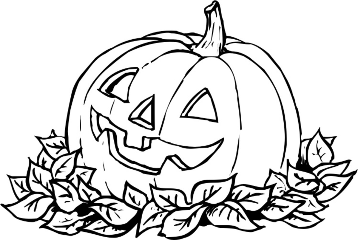 Halloween Pumpkins Colouring Pictures to Print-and-Colour - Centerpiece Pumpkin