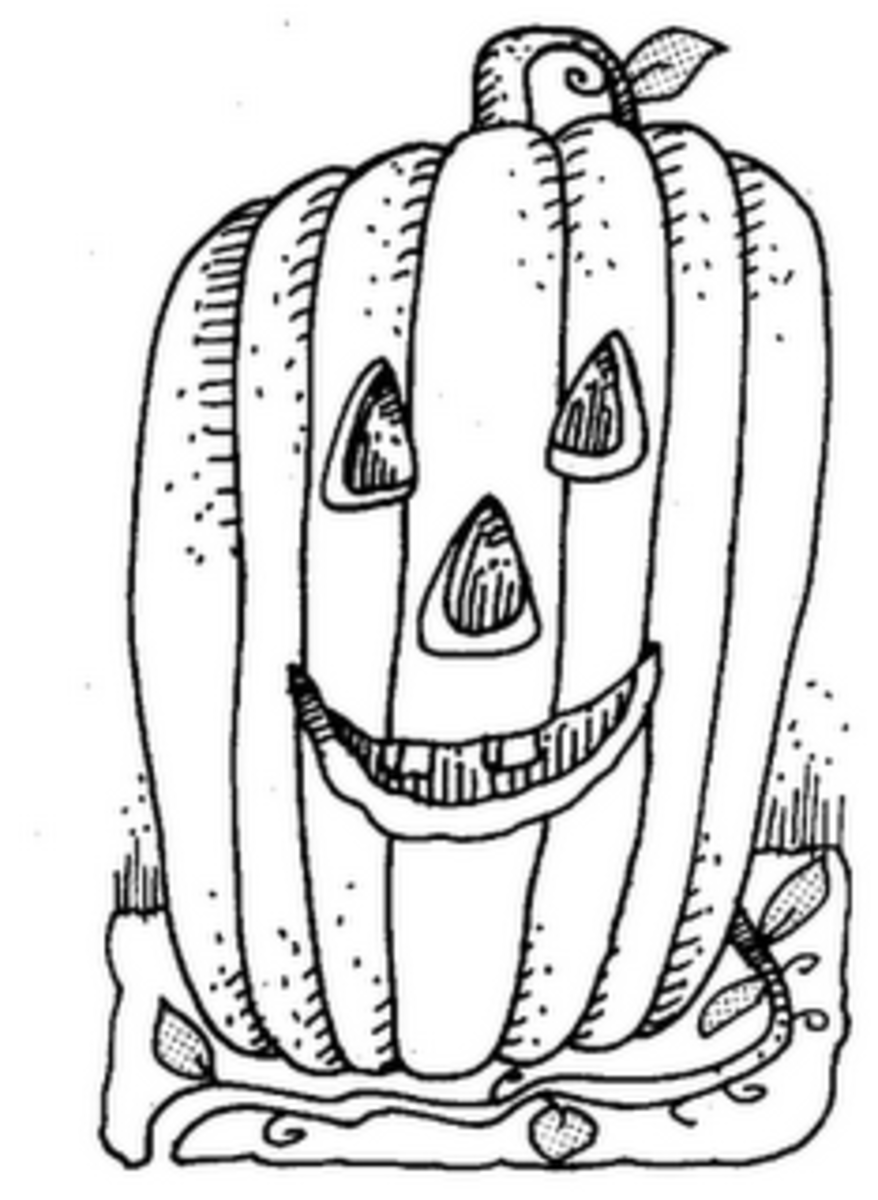 Halloween Pumpkins Ideas for Decoration - Childhood Education Online - Classic Face Coloring Pictures to Print-and-Colour
