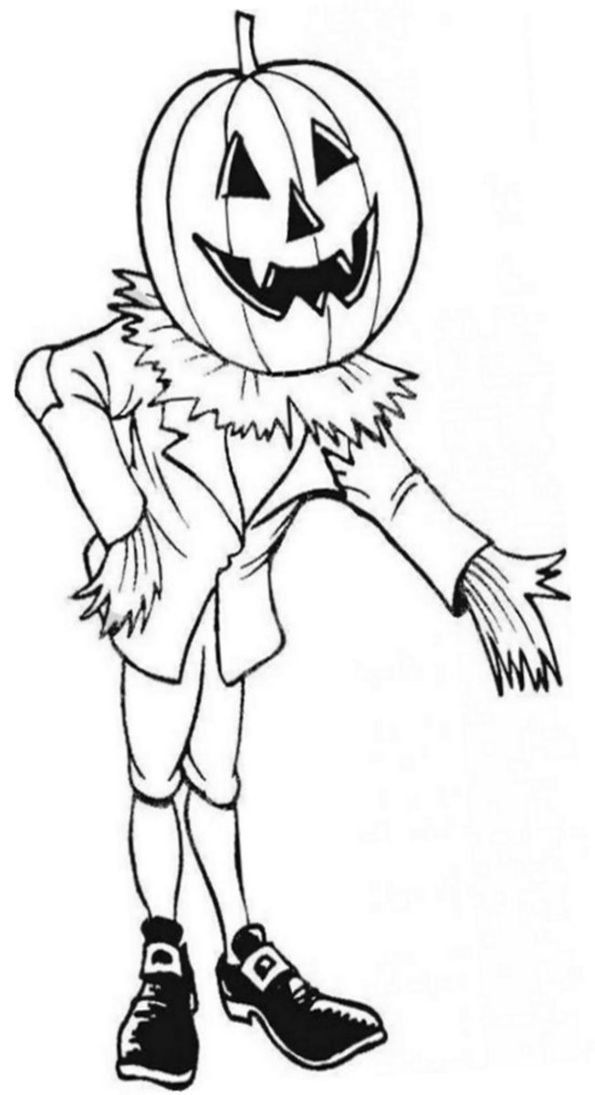 Halloween Pumpkins Ideas for Decoration - Childhood Education Online - Scary Crow Man Coloring Pictures to Print-and-Colour
