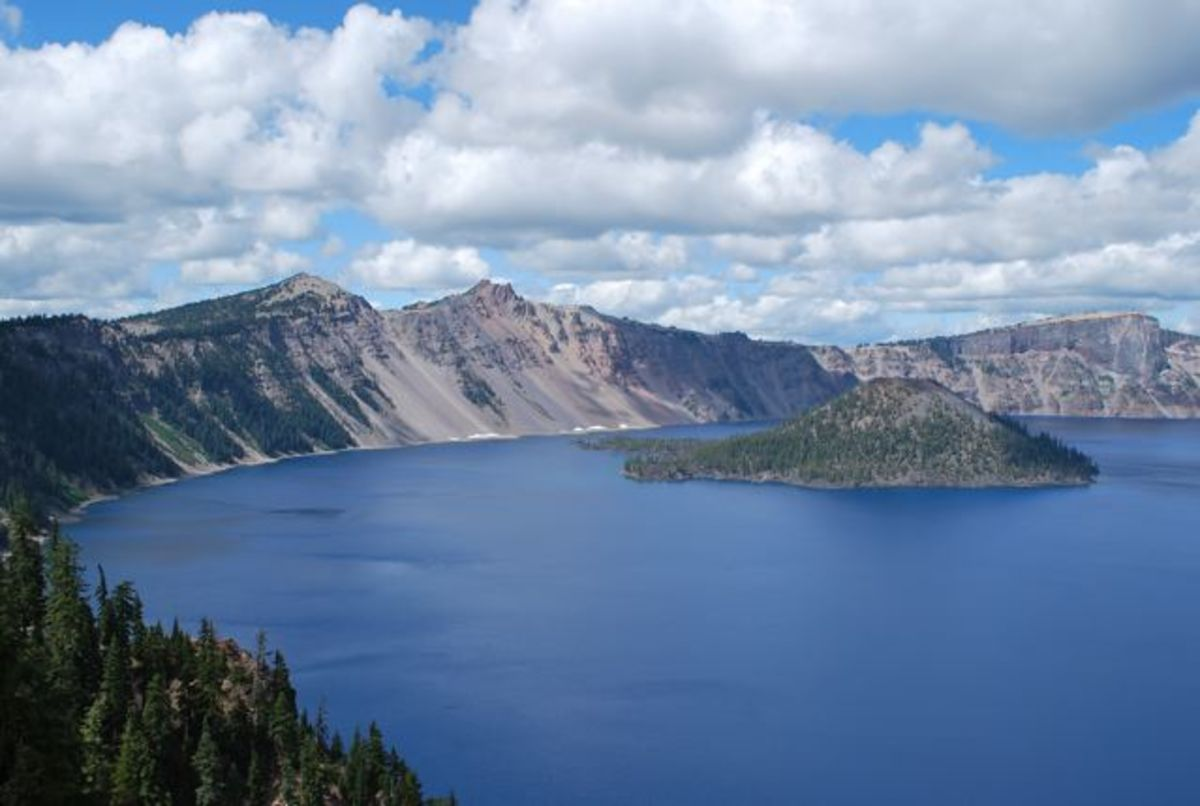 Crater Lake, Oregon with Wizard Island